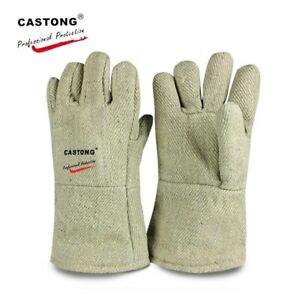 500 Degree Anti-scald Safety Gloves 34cm High Temperature Resistant Gloves