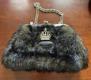 My Flat In London Jan Haedrich Faux Fur Clasp Purse