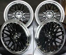 """18 """"jantes en alliage noir LM fit VW CADDY CC Eos Golf Jetta Passat Scirocco Sharan"""