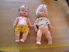 "1960's IDEAL doll The Flintstones Pebbles & Bam Bam dolls 16"" VINTAGE"