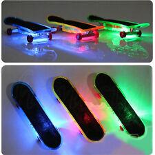 2pcs LED Finger Board Mini Colorful Skateboard Tech Deck Boy Children Toy Gifts