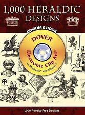 1,000 Heraldic Designs Medieval CD-ROM & Book ~ Thomas Robson (2007, Paperback)