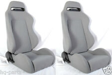 NEW 1 PAIR GRAY CLOTH RACING SEATS + SLIDERS ALL FORD *