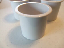"""Flush Mount Drink Holder - 3"""" Tall White  - Sold as a Set of 4  - SeaDog 588011"""