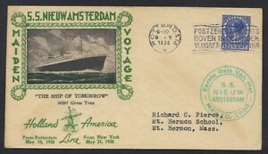 NETHERLANDS US 1938 SS NEW AMSTERDAM HOLLAND AMERICAN LINES MAIDEN VOYAGE