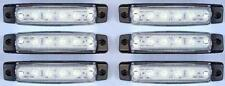 X6 X 12v 6 luces LED INTERMITENTE LATERAL BLANCO Iveco Volvo DAF Scania Man