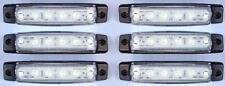 6 pezzi x 24V 6 LED LUCI INDICATORE LATERALE BIANCO per IVECO VOLVO DAF