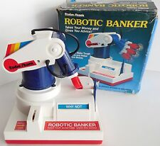 Vintage Radio Shack Robotic Banker - Robot Arm Coin Toy Bank Working SEE VIDEO!