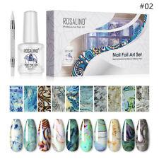 ROSALIND Nail Art Foil Stickers Transfer Decals Gel Set Home DIY Manicure Kit