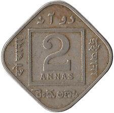 1926 India (British) 2 Annas Coin George V KM#516