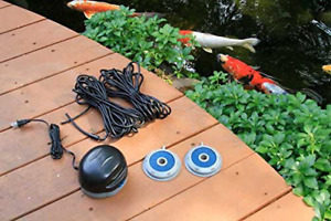 Pond Air Aeration Kit 75000 Double Outlet Black Polyresin Corded Electric Garden
