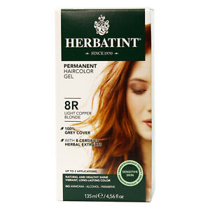 Herbatint Permanent Color Gel 8R Light Copper Blonde, Clearance for damaged box