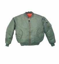 Bomber Jacket Sage Green Fox Outdoor Nylon MA-1 Men's Military Flight Size Small