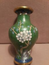 """Vintage Chinese Cloisonne Small Vase 5"""" tall"""