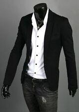 Fashion One Button Suit Coat For Men Formal Casual Dress Slim Fit Blazer Jacket
