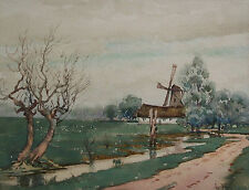 GORDON NIELSON - Antique Dutch School Watercolor Painting - Signed - Circa 1878