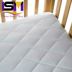 Baby Cot Bed Breathable QUILTED AND WATERPROOF Foam Mattress 160 x 80 x 10cm
