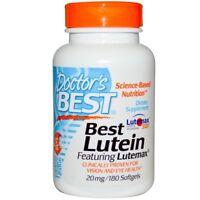 Doctor's Best Best Lutein Featuring Lutemax 2020 & Zeaxanthin 20 mg 180 Softgels