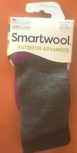 Smartwool Merino Wool Outdoor Advanced Light Cushion Crew Socks Hiking Size M