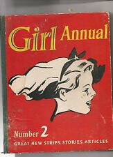 Girl Annual Number 2 Hardback 1950s An Eagle book 173 pages vintage