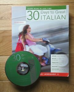30 Days to Great Italian (beginners) - Book and CD excellent condition