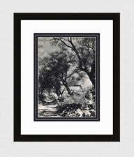 "1930s MAYWALD Vintage Photogravure ""Renoir's House Cagnes-sur-Mer"" Framed COA"