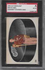 SGC signed 1962-63 Parkhurst #34 Sid Abel Detroit Red Wings Autograph