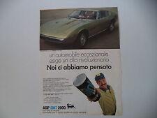 advertising Pubblicità 1969 AGIP SINT e MASERATI INDY