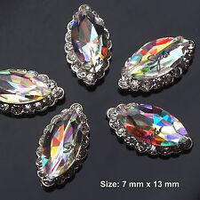 5 Pcs Alloy Jewelry 3D DIY AB Rhinestone Nail Art Glitters Slices #SH-210
