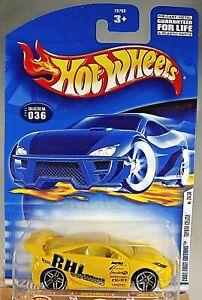 2001 Hot Wheels #36 First Edition 24/36 TOYOTA CELICA Yellow w/Pr5 Spoke Wheels