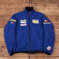 """Mens Vintage Tommy Hilfiger Blue Padded US Ski Team Jacket Medium 40"""" R15989"""