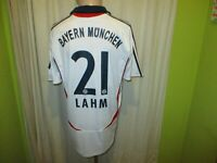 "FC Bayern München Adidas Auswärts Trikot 2007/08 ""-T--Com-"" + Nr.21 Lahm Gr.M"