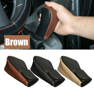 Car PU Leather Style Handbrake Shift Knob Protector Decoration Cover Accessories