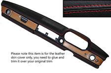 Rojo Stitch Dash Dashboard Leather Skin Tapa se ajusta Mercedes W114 W115