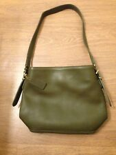 Coach Green Leather Small Satchel Tote Bag Hand  Purse Made in USA No. 9959