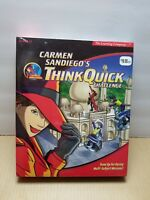 Carmen Sandiego's Think Quick Challenge PC Game- Factory Sealed/ NIB Ages 8-12