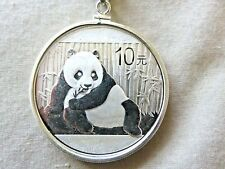 "2015 Panda Coin Pendant w/20"" Sterling Chain"