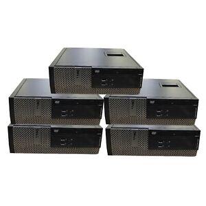 5 x Dell OptiPlex 3010 SFF Intel i5-3470 3.2Ghz 4GB DDR3 500GB HD DVD HDMI W10P