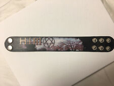 H.I.M. Killing Lonreliness Leather Wristband L/Xl Him Band Heartagram