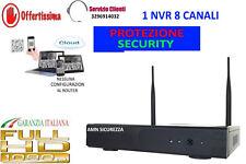 NVR 8 CH CANALI WIRELESS WIFI CLOUD IBRIDO FULL HD 1080p  ONVIF VIDEOSORVEGLIANZ