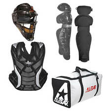 All Star Adult Fastpitch Series Complete Softball Catcher's Gear Set Black