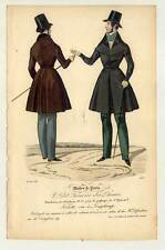 Herrenmode-Mode-fashion print - Stahlstich 1836 Petit Courrier des Dames