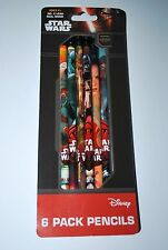 Star Wars Disney 6 Pack Wood Pencils No. 2 Lead Style # 1988SW Innovative Design