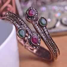 Hot Women Vintage Bangle Water Drop Resin Resin Bracelet Crystal Turkish Jewelry