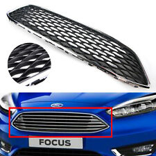Front Bumper Grille Mesh Honeycomb Type Black Chrome For Ford Focus 2015 2016