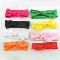 Fashionable Elastic Solid Color Bowknot Baby Children Headband Newborn Baby