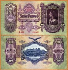Hungary, 100 Pengo, 1930, P-98, WWII, aUNC