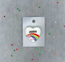 Rainbow & Hearts Fashion Pin Brooch Personalized JUDITH - Stocking Stuffer