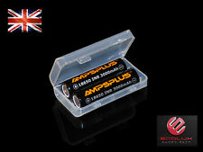 2 x Battery 3000mAh 20A/30A High Drain Flat Top IMR Genuine Ampsplus UK + case