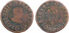 Louis XIII, double tournois, Riom 1624 - 142